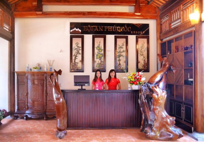 Hình ảnh quầy lễ tân tại khách sạn Hội An Phú Quốc