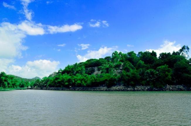 Xanh ngát một bên bờ sông Cái Nha Trang