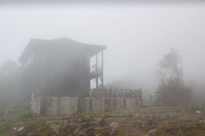 Mist covers Hon Ba all year round