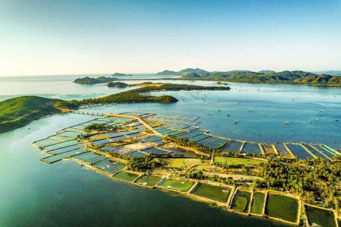 Overview of O Loan lagoon where aquaculture of Phu Yen people