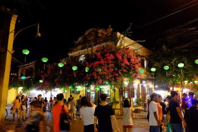 Old town at bustling night (Image: ST)