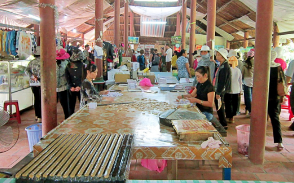 Coconut candy factory in Ben Tre